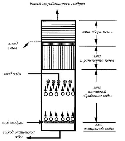 В зоне активной обработки воды