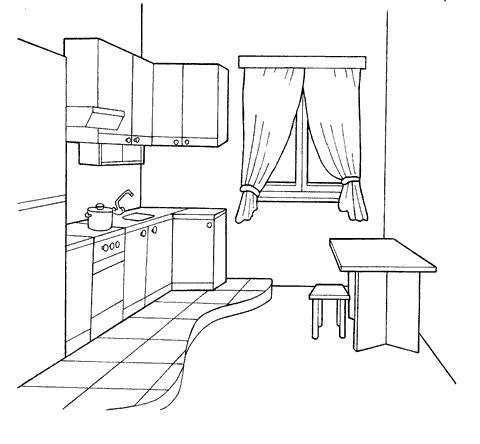 Рисунок масштаба комнаты
