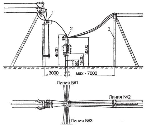 Схема присоединения ВЛ 10(6) и